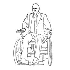 Superhero Professor X Coloring Sheets