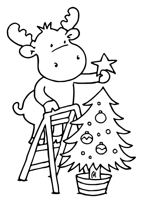 Reindeer-Decorating-Christmas-Tree