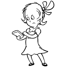 Sally Character From Cat In The Hat Planting Seed Coloring Page