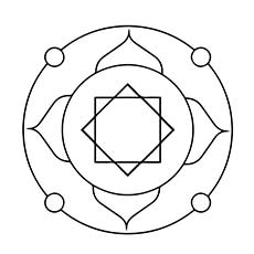 simple mandala design to color free - Simple Mandala Coloring Pages