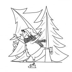 Snoman and Christmas Tree