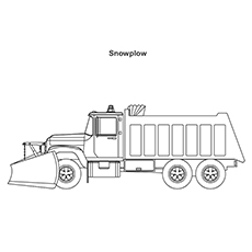 Coloring Pages Snow Plow Truck To Clear the Road