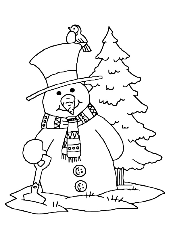 Snowman-And-Christmas-Tree
