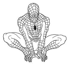 Superhero Spider Man Coloring Pages