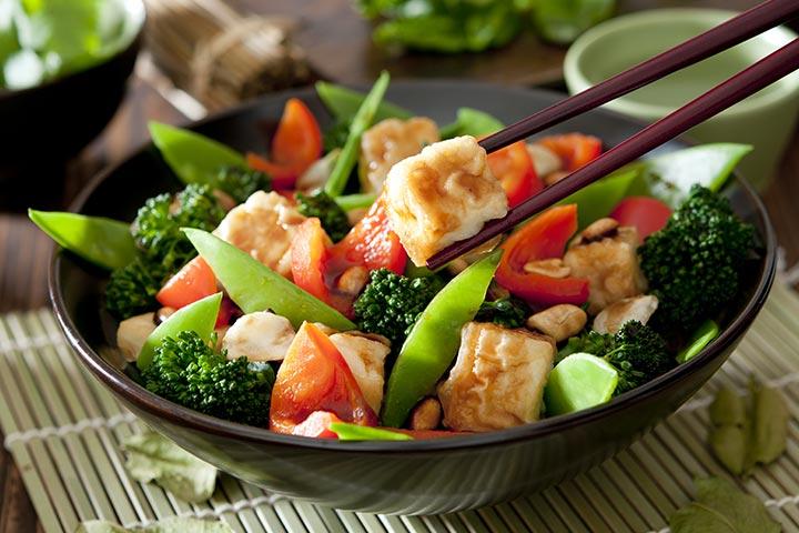 Stir-Fried Tofu With Broccoli