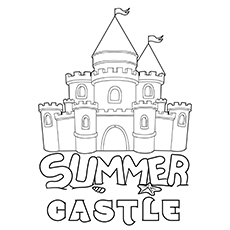 Summer Castle Picture for Kids to Color