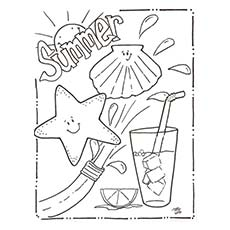 summer drink coloring page - Summer Coloring Page