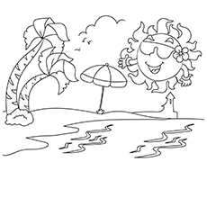 Hottest Summer Time Coloring Image for Kids