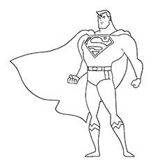 Superhero Superman Coloring Page