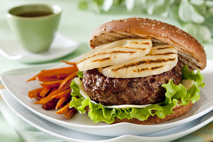 Sweet Potato And Pineapple Burger