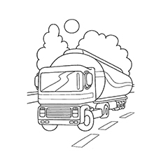 petroleum tank truck tow truck coloring pages