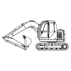 Mechanical Shovel Truck Coloring Pages