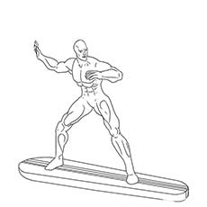 superman free printable superhero silver surfer coloring pages - Surfboard Coloring Pages Print