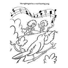 Thing One And Thing Two Playing Music Printable to Color