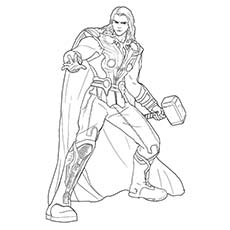 Superhero Coloring Pages Thor