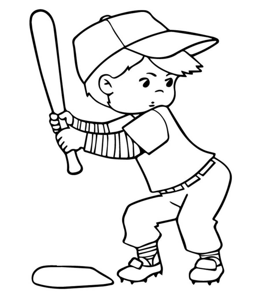 mlb coloring pages 02 | Top 20 Baseball Coloring Pages For Toddlers