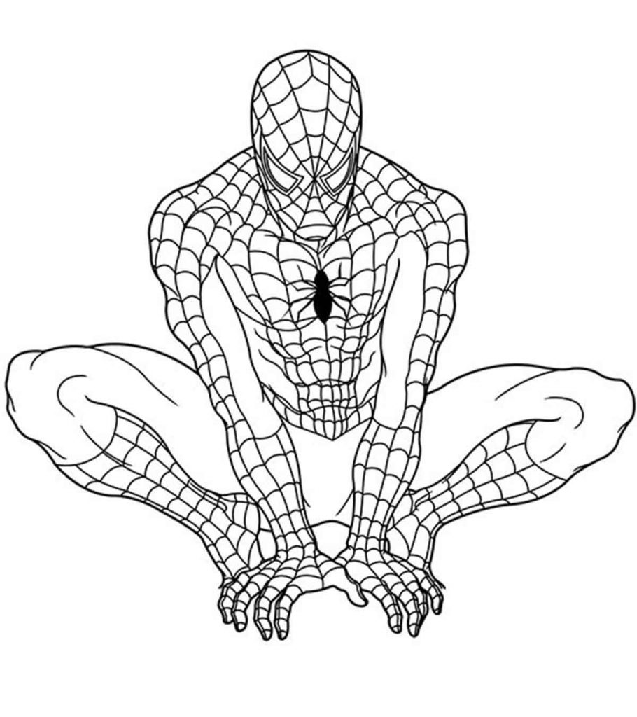superhero free coloring pages - photo#5