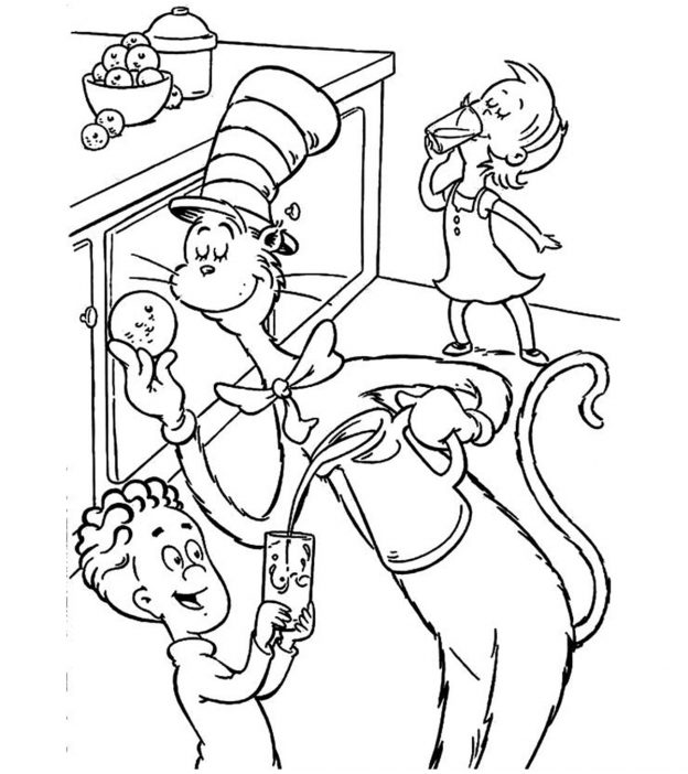 Top cat coloring pages printable ~ Top 25 Free Printable Cat In The Hat Coloring Pages Online