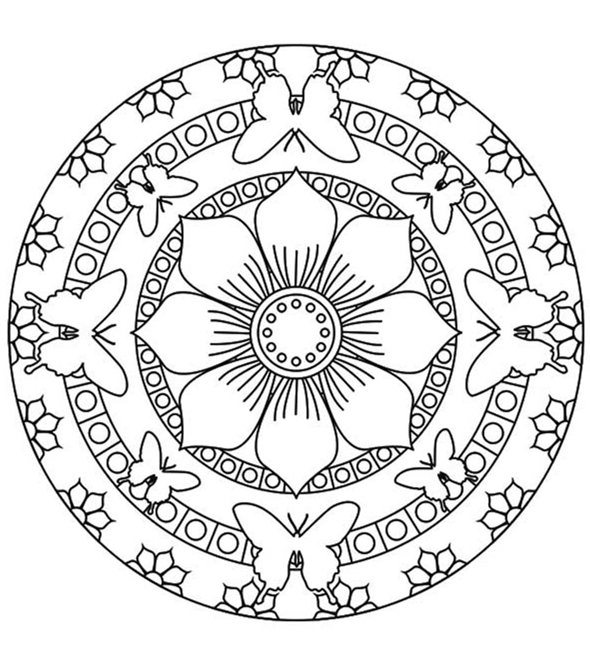 Top  Mandala Coloring Pages For Your Little Ones