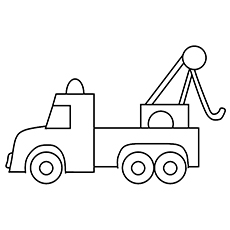 tow truck - Construction Trucks Coloring Pages