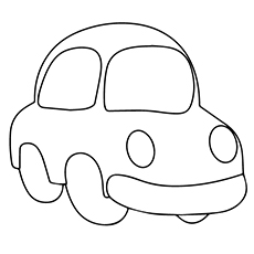 toy car - Simple Car Coloring Pages