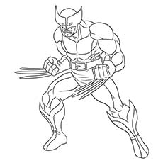 Good Superhero Coloring Pages Wolverine