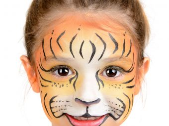 10 Cute Tiger Face Paints For Kids