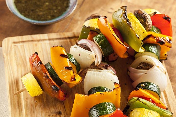 BBQ Vegetable Kebab