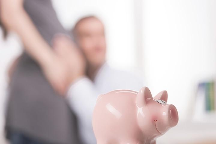 Baby fund piggy bank