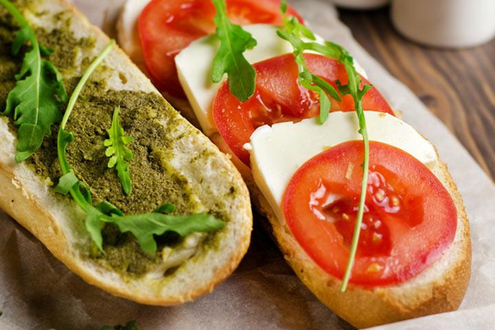 Caprese Sandwich With Homemade Pesto
