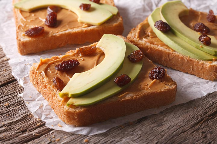 Cinnamon-Raisin Peanut Butter Sandwich