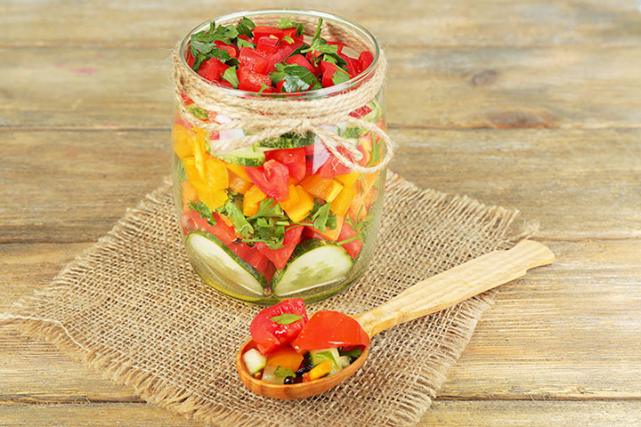 Colorful Salad In A Jar