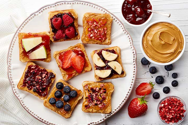 Fruity Peanut Butter Sandwich