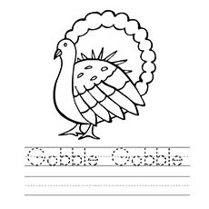 Thanksgiving Coloring Pages Gobble
