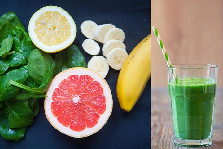 Grapefruit green smoothie