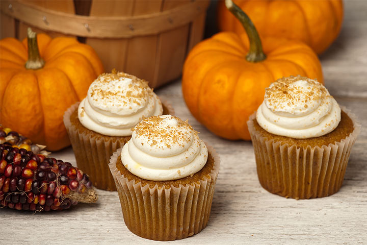Halloween Spiced Pumpkin Cupcake With Pictures