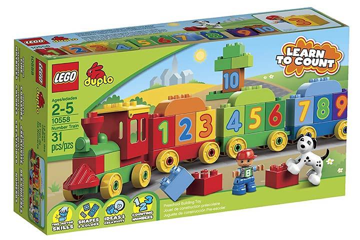 Lego Number Train
