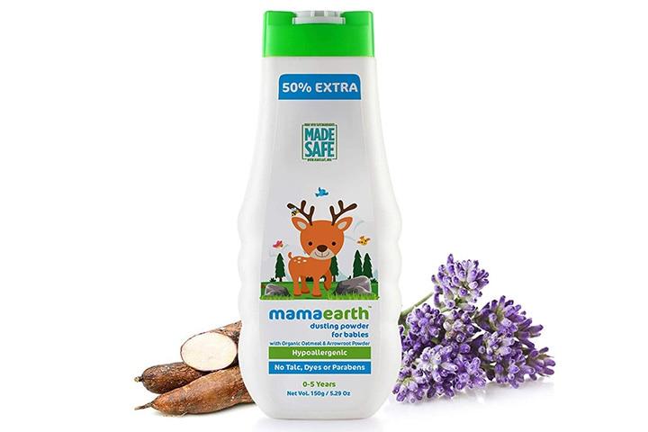 Mamaearth dusting Powder with Organic Oatmeal & Arrowroot Powder