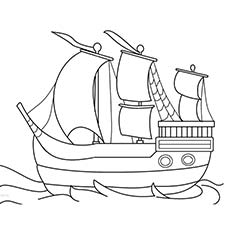 Thanksgiving Coloring Pages Happy Mayflower