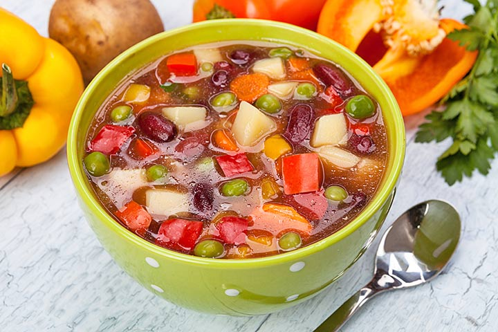 Mixed Beans And Vegetable Soup