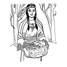 thanksgiving coloring pages native american