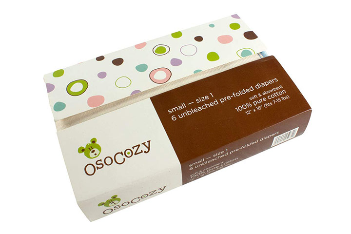 OsoCozy Unbleached Pre-folded Cloth Diapers