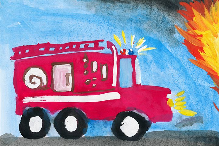 Paper Shapes Fire Truck