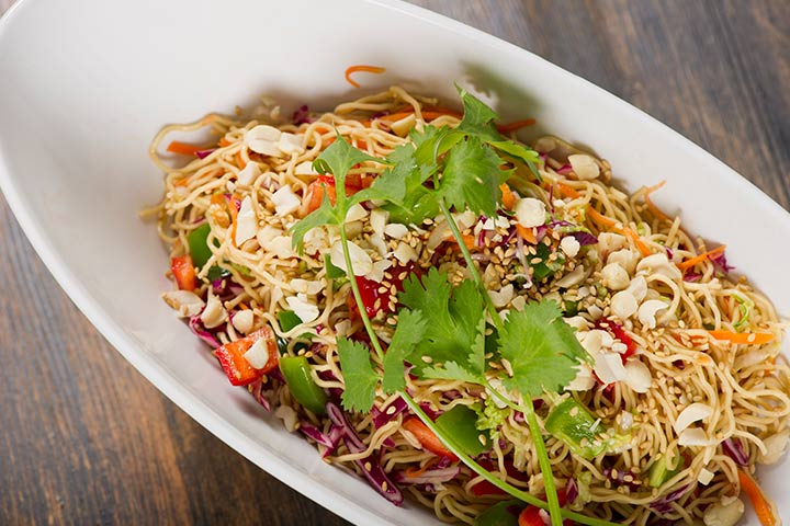 Peanut Sesame Noodles and Veggies