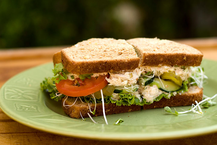 Pickled Tuna Salad Sandwich