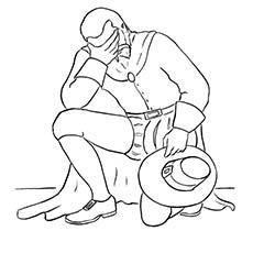 Pilgrim Kneeling