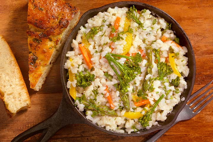 Pot risotto with veggies