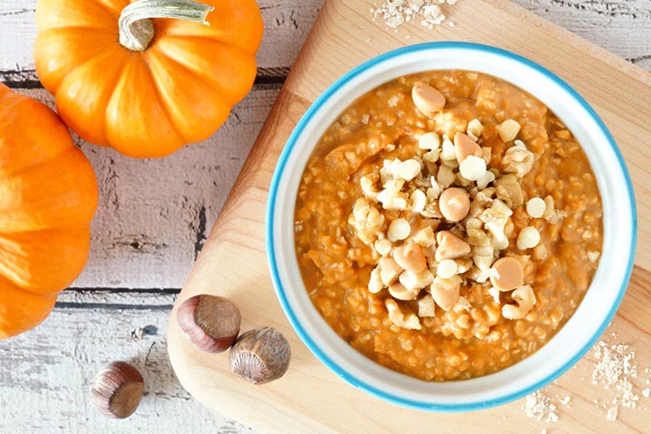 Pumpkin and oatmeal porridge