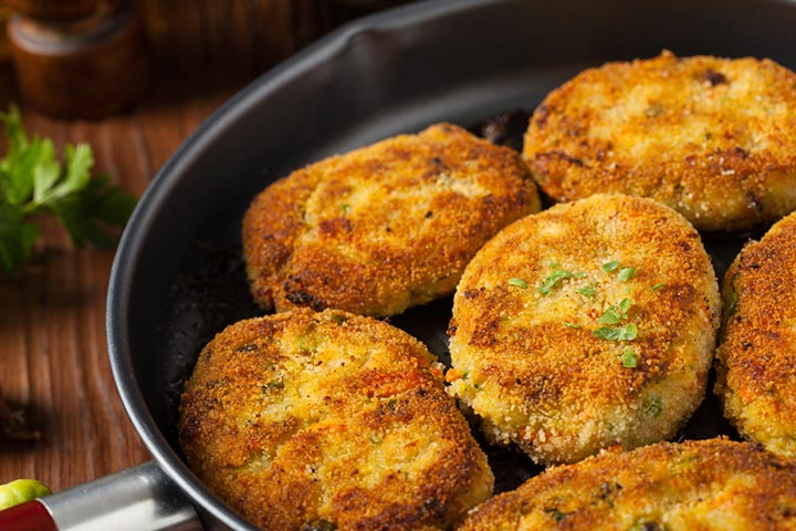 Rice and broccoli cutlets