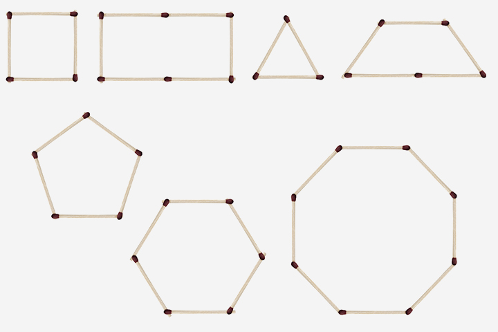 Shapes With Matchsticks